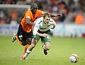 22/11/2009  Copyright  Pic : James Stewart.sct_jspa22_dundee_utd_v_celtic  . :: AIDEN MCGEADY GETS AWAY FROM MORGARO GOMIS :: .James Stewart Photography 19 Carronlea Drive, Falkirk. FK2 8DN      Vat Reg No. 607 6932 25.Telephone      : +44 (0)1324 570291 .Mobile              : +44 (0)7721 416997.E-mail  :  jim@jspa.co.uk.If you require further information then contact Jim Stewart on any of the numbers above.........