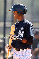 New York Yankees minor league outfielder Mason Williams (40) vs. the Pittsburgh Pirates in an Instructional League game at the New York Yankees Minor League Complex in Tampa, Florida;  October 8, 2010.  Photo By Mike Janes/Four Seam Images
