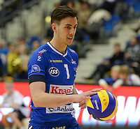 20161228 - ROESELARE ,  BELGIUM : Roeselare's Angel Trinidad pictured during the second semi final in the Belgian Volley Cup between Knack Volley Roeselare and Lindemans Aalst in Roeselare , Belgium , Wednesday 28 th December 2016 . PHOTO SPORTPIX.BE   DAVID CATRY