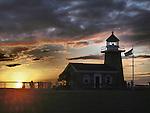 Santa Cruz Lighthouse at sunset Mark Abbott Memorial Lighthouse, Santa Cruz