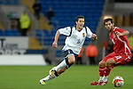 International Friendly match between Wales and Scotland at the new Cardiff City Stadium : Scotlands Don Cowie gets the ball past Joe Ledley of Wales.