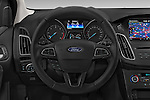 Car pictures of steering wheel view of a 2015 Ford Focus Titanium 5 Door Wagon Steering Wheel