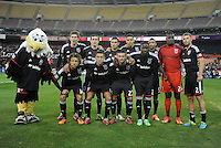 Washington D.C. - March 8, 2014: D.C. United Team Photo   The Columbus Crew defeated D.C. United 3-0 during the opening game of the 2014 season at RFK Stadium.