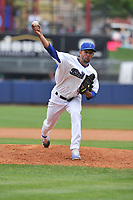 Tulsa Drillers pitcher Yaisel Sierra (23) throws during a game against the Arkansas Travelers at Oneok Field on May 22, 2017 in Tulsa, Oklahoma.  Arkansas won 5-4.  (Dennis Hubbard/Four Seam Images)
