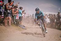 eating dust on pavé sector #2<br /> <br /> Stage 9: Arras Citadelle > Roubaix (154km)<br /> <br /> 105th Tour de France 2018<br /> ©kramon