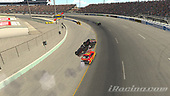 #95: Christopher Bell, Leavine Family Racing, Toyota Camry wreck<br /> <br /> (MEDIA: EDITORIAL USE ONLY) (This image is from the iRacing computer game)