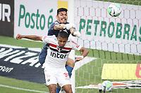 São Paulo (SP), 10/01/2021 - São Paulo-Santos - João Paulo e Brenner. Partida entre São Paulo e Santos válida pelo Campeonato Brasileiro neste domingo (10) no estádio do Morumbi em São Paulo.