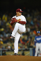 Enrique Gonzalez of Venezuela during a game against Korea at the World Baseball Classic at Dodger Stadium on March 21, 2009 in Los Angeles, California. (Larry Goren/Four Seam Images)