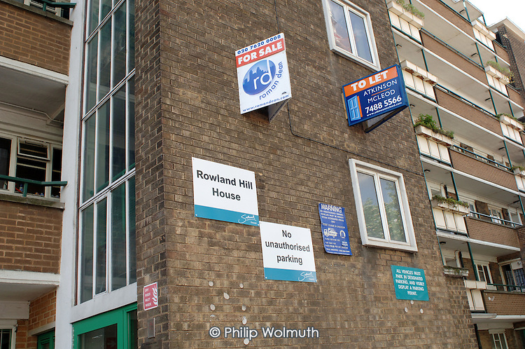 Flats for sale and to let in Southwark Council's Rowland Hill House.