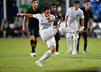 LAKE BUENA VISTA, FL - JULY 18: Cristian Pavón #10 of LA Galaxy watches his penalty shot during a game between Los Angeles Galaxy and Los Angeles FC at ESPN Wide World of Sports on July 18, 2020 in Lake Buena Vista, Florida.