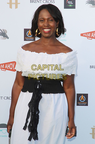 Michelle Gayle at the first ever UK Drive-In Film Premiere of 'Break' at Brent Cross in London. This is the first Red Carpet event in the UK since the Covid-19 Pandemic lockdown. The film will be rolled out nationwide in other drive-in venues. Brent Cross, London 22nd July 2020<br /> CAP/ROS<br /> ©ROS/Capital Pictures