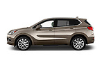 Car Driver side profile view of a 2018 Buick Envision Premium-II-AWD 5 Door SUV Side View