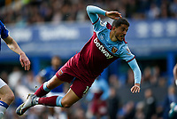 Pablo Fornals of West Ham United heads the ball at goal during the Premier League match between Everton and West Ham United at Goodison Park on October 19th 2019 in Liverpool, England. (Photo by Daniel Chesterton/phcimages.com)<br /> Foto PHC/Insidefoto <br /> ITALY ONLY