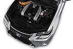 Car Stock 2016 Lexus GS F-Sport-RWD 4 Door Sedan Engine  high angle detail view