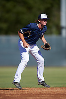 Milwaukee Brewers third baseman Trever Morrison (29) during an Instructional League game against the Cincinnati Reds on October 14, 2016 at the Maryvale Baseball Park Training Complex in Maryvale, Arizona.  (Mike Janes/Four Seam Images)