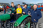 Gerard and Gearoid Mangan, Billy and Will Roche at the Blennerville Tractor Run Into the West fundraiser for Kerry Hospice on Sunday.