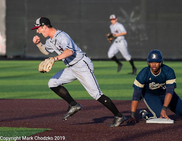 High School baseball, sports, action, athletes, crowds