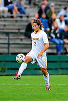 12 October 2011: University of Vermont Catamount Defender Sean Sweeney, a Junior from Cromwell, CT, in action against the Boston University Terriers at Centennial Field in Burlington, Vermont. The Catamounts were edged out 1-0 by the visiting Terriers. Mandatory Credit: Ed Wolfstein Photo
