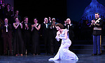 """Brad Oscar, Stanley Wayne Mathis, Adam Heller, Carmen Cusack and Ben Davis during the Curtain Call for the closing Night performance of  Encores! """"Call Me Madam"""" at City Center on February 10, 2019 in New York City."""