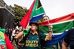 Fans of South Africa team celebrate for their team winning the champion at the during Day 2 of Hong Kong Cricket World Sixes 2017 Award Presentation at Kowloon Cricket Club on 29 October 2017, in Hong Kong, China. Photo by Yu Chun Christopher Wong / Power Sport Images