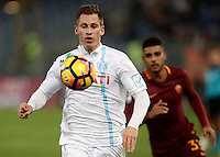 Calcio, Serie A: Roma vs ChievoVerona. Roma, stadio Olimpico, 22 settembre 2016.<br /> Chievo Verona's Valter Birsa in action during the Italian Serie A football match between Roma and Chievo Verona, at Rome's Olympic stadium, 22 December 2016.<br /> UPDATE IMAGES PRESS/Isabella Bonotto