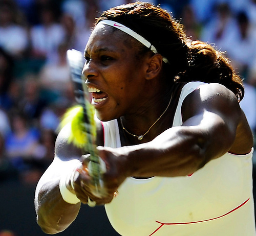 28TH JUNE 2010, WIMBLEDON TENNIS CHAMPIONSHIPS, SERENA WILLIAMS IN ACTION AGAINST MARIA SHARAPOVA, ROB CASEY PHOTOGRAPHY