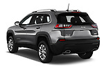Car pictures of rear three quarter view of a 2019 Jeep Cherokee Latitude Plus 4X4 5 Door SUV angular rear