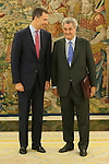 King Felipe VI of Spain receives Deputy Congress President Jesus Posada during an audience at Zaruzela Palace in Madrid, Spain. June 23, 2013. (ALTERPHOTOS/Victor Blanco)