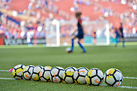 Sandy, Utah - Thursday June 07, 2018: NIKE balls, USWNT vs China PR, Rio Tinto stadium during an international friendly match between the women's national teams of the United States (USA) and China PR (CHN) at Rio Tinto Stadium.