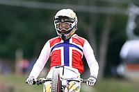 29th August 2021; Commezzadura, Trentino, Italy; 2021 Mountain Bike Cycling World Championships, Val di Sole; Downhill;  Downhill final Junior Women, Mille Johnset (NOR)
