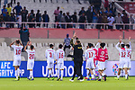 Bahrain squad celebrates winning the AFC Asian Cup UAE 2019 Group A match between India (IND) and Bahrain (BHR) at Sharjah Stadium on 14 January 2019 in Sharjah, United Arab Emirates. Photo by Marcio Rodrigo Machado / Power Sport Images