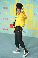 LOS ANGELES, CA - OCTOBER 13: Teyana Taylor at the Special Screening Of The Harder They Fall at The Shrine in Los Angeles, California on October 13, 2021. Credit: Faye Sadou/MediaPunch