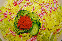 Cold somen salad, Japanese restaurant