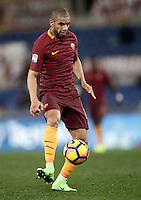 Calcio, Serie A: Roma, Stadio Olimpico, 7 febbraio 2017.<br /> Roma's Bruno Peres in action during the Italian Serie A football match between AS Roma and Fiorentina at Roma's Olympic Stadium, on February 7, 2017.<br /> UPDATE IMAGES PRESS/Isabella Bonotto