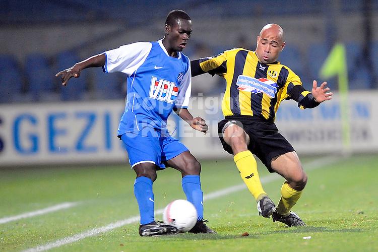 voetbal bv veendam - fc eindhoven jupiler leaque seizoen 2008-2009 31-10-2008 angelo cijntje verdedigt.