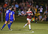 NWA Democrat-Gazette/MICHAEL WOODS • @NWAMICHAELW<br /> Stefani Doyle (17) of Arkansas celebrates after scoring the Razorbacks second goal in the second half Friday, August 26, 2016 during their game against Duke at Razorback field in Fayetteville.