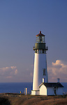 Yaquina Head Lighthouse, built in 1873, still in operation; Newport, central Oregon coast..#2313-4679