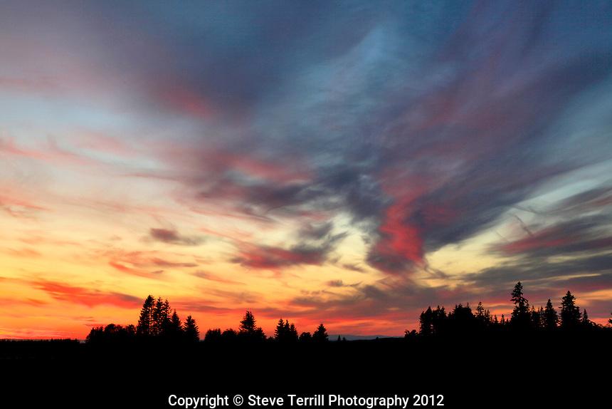 Sunset from Marmot Road on Devils Backbone in Clackamas Oregon