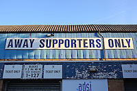 General view of the away supporters' entrance ahead of Southend United vs Brighton & Hove Albion Under-23, Checkatrade Trophy Football at Roots Hall on 30th August 2016