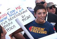 Imma Battaglia<br /> Roma, 24/06/06 Parata del Gay Pride a Roma. <br /> Photo Samantha Zucchi Insidefoto