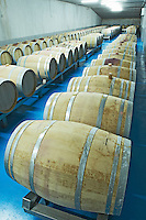 barrels with fermenting wine Bodegas Margon , DO Tierra de Leon , Pajares de los Oteros spain castile and leon