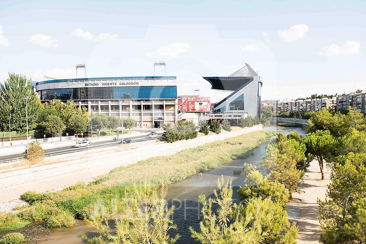Stadium Vicente Calderon in Madrid. September 02, Spain. 2016. (ALTERPHOTOS/BorjaB.Hojas)
