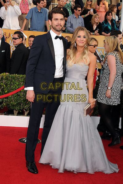 18 January 2014 - Los Angeles, California - Ryan Sweeting, Kaley Cuoco. 20th Annual Screen Actors Guild Awards - Arrivals held at The Shrine Auditorium. Photo Credit: Byron Purvis/AdMedia<br /> CAP/ADM/BP<br /> ©Byron Purvis/AdMedia/Capital Pictures