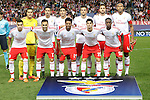 SL Benfica's team photo with Julio Cesar, Andre Almeida, Raul Jimenez, Andreas Samaris, Jardel, Luisao, Nicolas Gaitan, Jonas, Eliseu, Goncalo Guedes and Nelson Semedo during Champions League 2015/2016 match. September 30,2015. (ALTERPHOTOS/Acero)