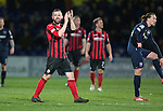 Ross County v St Johnstone....07.04.15   SPFL<br /> James McFadden applauds the travelling fans as he is subbed<br /> Picture by Graeme Hart.<br /> Copyright Perthshire Picture Agency<br /> Tel: 01738 623350  Mobile: 07990 594431