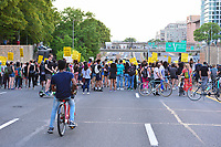 Washington, DC - June 15, 2020: Protesters block a section of Intertstate 395/695 in Washington, DC June 15, 2020 to call for police justice and reform in the wake of the police killing of George Floyd in Minnesota.  (Photo by Don Baxter/Media Images International)