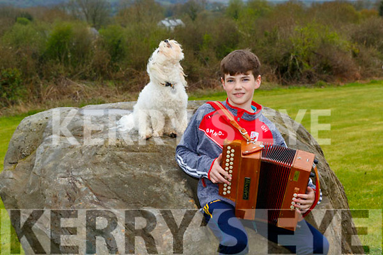 Healy Glenflesk who won the Killarney School of Music competition with his dog that sings when he plays