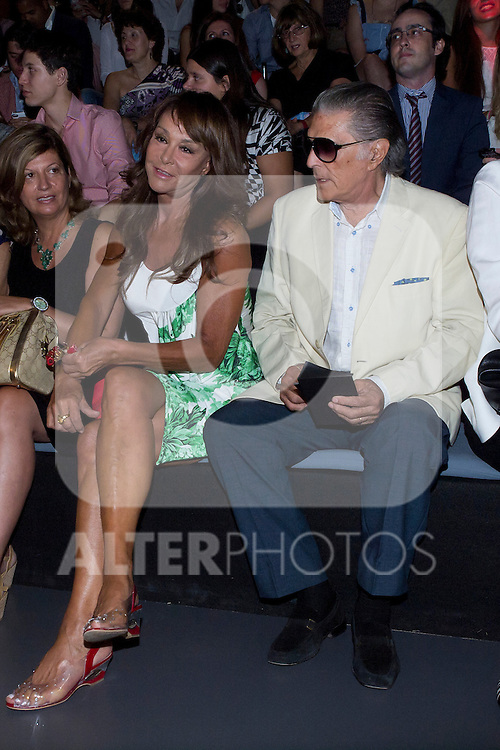 31.08.2012. Celebrities attending the Mahou Collection 1960-2012 by Elio Berhanyer  fashion show during the Mercedes-Benz Fashion Week Madrid Spring/Summer 2013 at Ifema. In the image Mari Angeles Grajal and Jaime Ostos (Alterphotos/Marta Gonzalez)