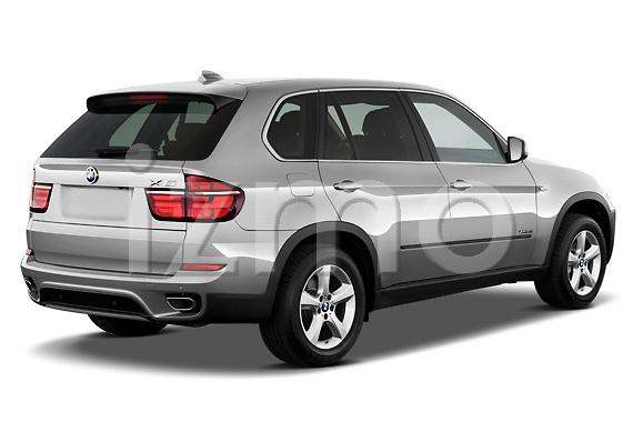 Passenger side rear three quarter view of a 2013 BMW X5 xDrive50i