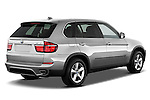 Passenger side rear three quarter view of a 2013 BMW X5 xDrive50i
